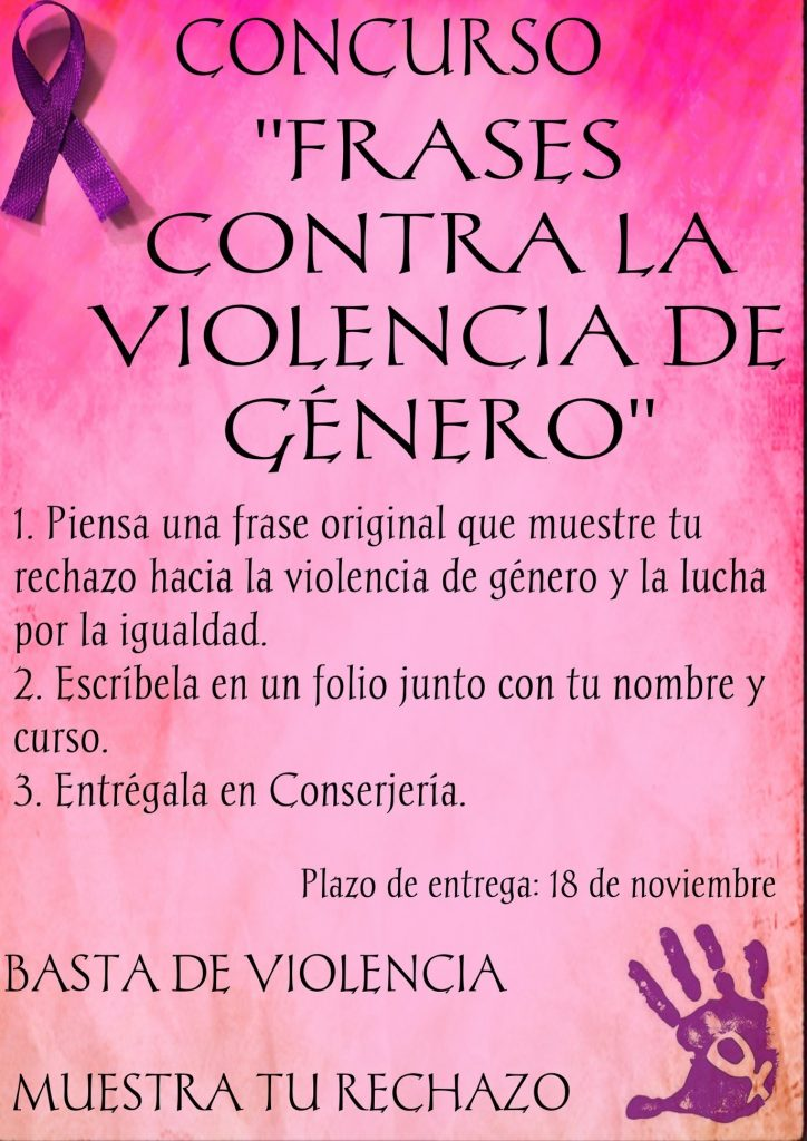 Concurso Frases Contra La Violencia De Género